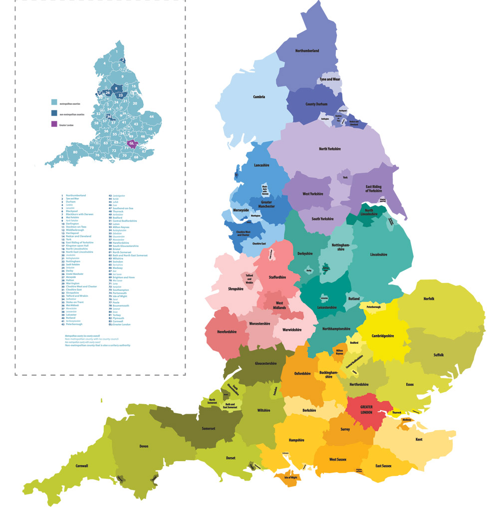 England Counties