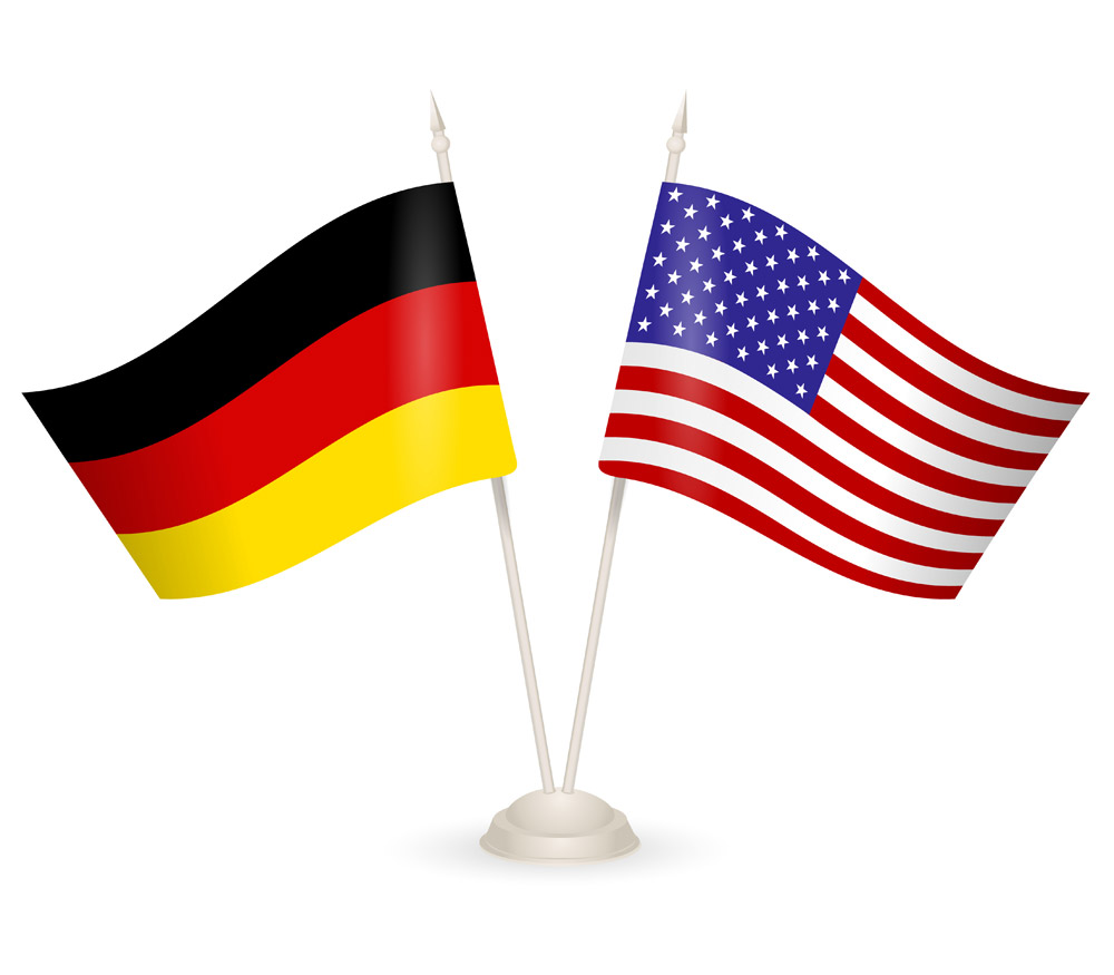 Germany United States Flags